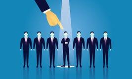 Geschäfts-Einstellungs-Konzept, das Geschäftsmann vorwählt Lizenzfreie Stockfotografie