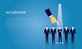 Geschäfts-Einstellungs-Konzept, das Geschäftsmann vorwählt Lizenzfreie Stockfotos