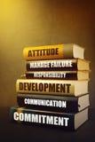 Geschäfts-Führungs-Attribute und Funktionen in der Literatur lizenzfreies stockbild