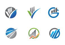 Geschäfts-Finanzlogo Stockfoto