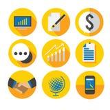 Geschäfts-flache Ikone Lizenzfreie Stockbilder