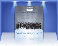 Geschäfts-Flugblatt-vektorschablone Stockfoto
