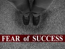 Geschäfts-Furcht vor Erfolg Stockbild