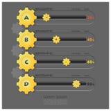 Geschäfts-Gang-Form Infographics Lizenzfreies Stockbild