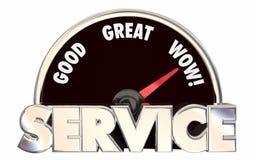 Geschäfts-Geschwindigkeitsmesser-Wörter Best Service Top Rated Company Stockfoto