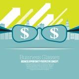 Geschäfts-Gläser Lizenzfreie Stockbilder