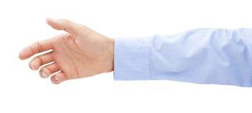 Geschäfts-Hand, die heraus erreicht Lizenzfreies Stockbild