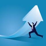 Geschäfts-harte Arbeit, zum des Erfolgs-Konzeptes zu erreichen Lizenzfreie Stockfotografie