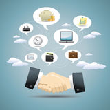 Geschäfts-Ideen-Konzept-Entwurf Stockfoto