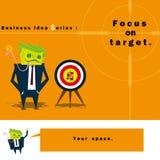 Geschäfts-Ideen-Reihe Fokus auf Ziel Lizenzfreie Stockfotografie