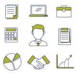 Geschäfts-Ikonen-Vektor Stockbilder