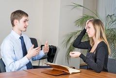 Geschäfts-Interview Stockbilder