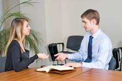 Geschäfts-Interview Lizenzfreie Stockfotos