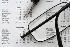 Geschäfts-Kalender 2006 Lizenzfreies Stockfoto