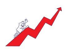 Geschäfts-Klettern - Geschäftskonzept Stockfotografie