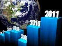 Geschäfts-Konzept 2011 stock abbildung
