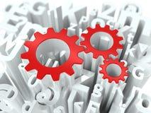Geschäfts-Konzept auf Alphabet-Hintergrund. Stockbild