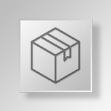 Geschäfts-Konzept Ikone des Kastens 3D Stockbilder