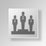 Geschäfts-Konzept Ikone des Podiums 3D Lizenzfreies Stockfoto
