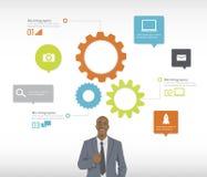 Geschäfts-Konzept-Vektor Stockfotos