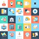 Geschäfts-Konzept-Vektor-Ikonen 9 Lizenzfreie Stockfotos