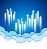 GESCHÄFTS-Konzepthintergrund der Wolke Datenverarbeitungsmit kreativem Lizenzfreies Stockbild