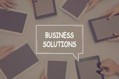 GESCHÄFTS-LÖSUNGS-KONZEPT Geschäfts-Konzept Stockfoto