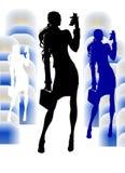 Geschäfts-Mädchen mit Videophon Lizenzfreies Stockfoto