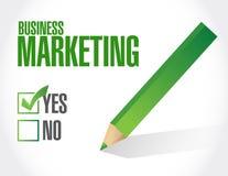 Geschäfts-Marketing-Check-Listen-Zeichenkonzept Stockfoto