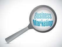 Geschäfts-Marketing vergrößert Zeichenkonzept Stockbilder