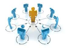 Geschäfts-Netz Stockfoto