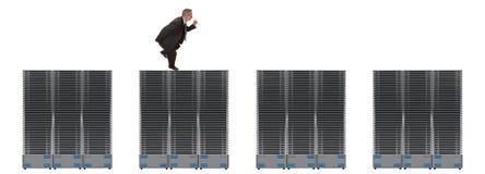 Geschäfts-Netz der Servers Lizenzfreie Stockfotos