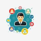 Geschäfts-Organisation lizenzfreie abbildung