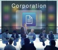 Geschäfts-Organisations-Anwendungs-Seiten-Ikonen-Konzept Stockbilder