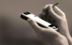 Geschäfts-Personen-Holding PDA Stockbilder
