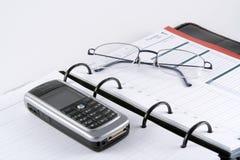 Geschäfts-Planer Stockfoto