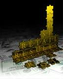 Geschäfts-Puzzlespiel stockfotos