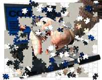 Geschäfts-Puzzlespiel-Stücke lizenzfreie stockfotos