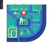Geschäfts-Reihe - Karte lizenzfreie abbildung