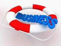 Geschäfts-Rettung Stockfoto