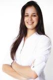 Geschäfts-schönes Mädchen Lizenzfreies Stockfoto
