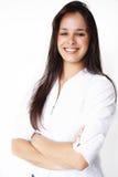 Geschäfts-schönes Mädchenlächeln Lizenzfreie Stockbilder