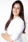 Geschäfts-schönes Mädchenlächeln Stockfoto