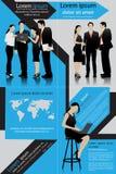 Geschäfts-Schablone Stockfotografie