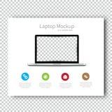 Geschäfts-Schablonenbroschüre Modelllaptopflieger-Design Darstellung Sehr bedienungsfreundlich Stockfotografie