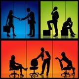 Geschäfts-Schattenbilder lizenzfreie abbildung