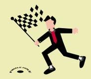 Geschäfts-Schlussfolgerungs-Konzept-Illustration Stockfotos