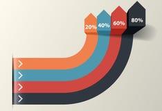 Geschäfts-Schritte, Vektor Infographics-Schablone Stockbild