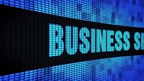 Geschäfts-Sicherheits-Seite simsen das In einer Liste verzeichnen des LED-Wand-Anzeigetafel-Zeichen-Brettes stock video footage