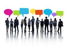 Geschäfts-sozial-Frage Stockfotografie
